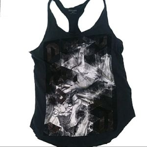 All Saints Racerback Graphic Tank Top
